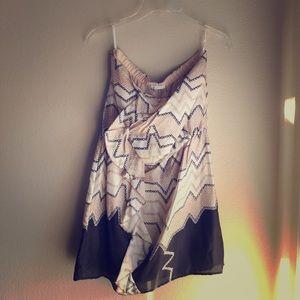 Glam Strapless Dress Size S